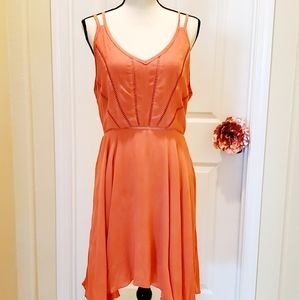 3 for $25 Esley Spaghetti Straps Coral Dress